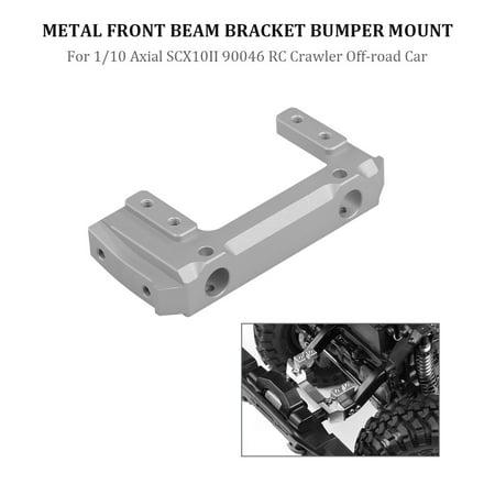 Front Bumper Beam (Front Beam Bracket Bumper Mount Metal for 1/10 Axial SCX10II 90046 RC Crawler Off-road)