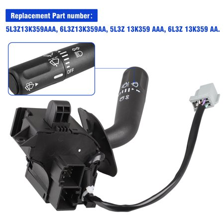 Signal Wiper Combination Switch Lever (TSV Headlight Turn Signal Wiper Dimmer Combination Lever Switch for 2005-2008 Ford F150 Trunk Replace# 5L3Z13K359AAA)