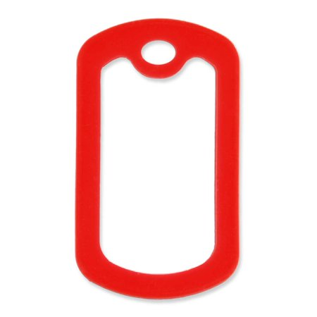 5 Pack - PinMart's Military Style Dog Tag Silicone Silencer - Red (Military Dog Tag Silencers)