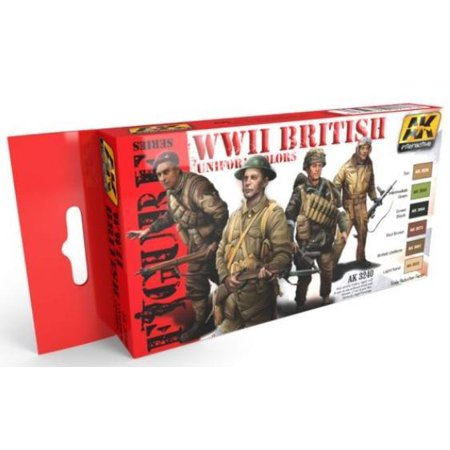 Wwii Uniform Set - WWII British Uniform Colors Set New
