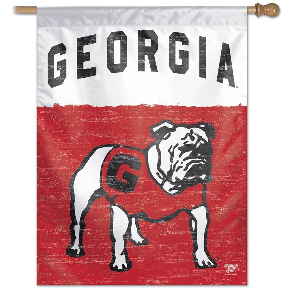 Georgia Bulldogs UGA Throwback House Flag Banner