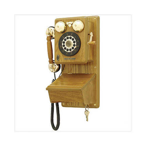 country kitchen wall phone crosley country kitchen wall phone in rubbed oak 6172