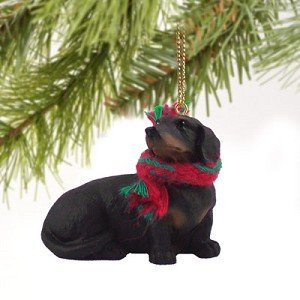 1 X Dachshund Miniature Dog Ornament - Black & Tan, Collectible By Conversation Concepts Dachshund Angel Dog Ornament
