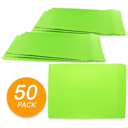 SparkSettings Disposable Paper Placemat for Dining Table Easy to Clean Made of Paper Great for Various Party, Events, Festivals or Occasions - Kiwi - Disposable Placemats