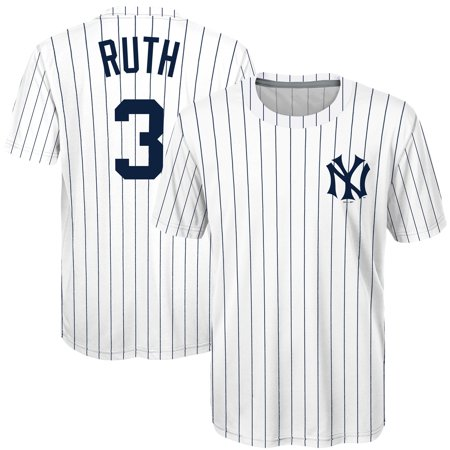 7e1e4e9f3 Babe Ruth New York Yankees Majestic Youth Sublimated Cooperstown Collection  Jersey T-Shirt - White - Walmart.com