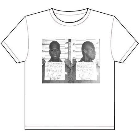 Laminated Poster 50 Cent Mug Shot Picture T-Shirt Tee Rap Hip Hop G Unit Fifty Mugshot Poster Print 24 x