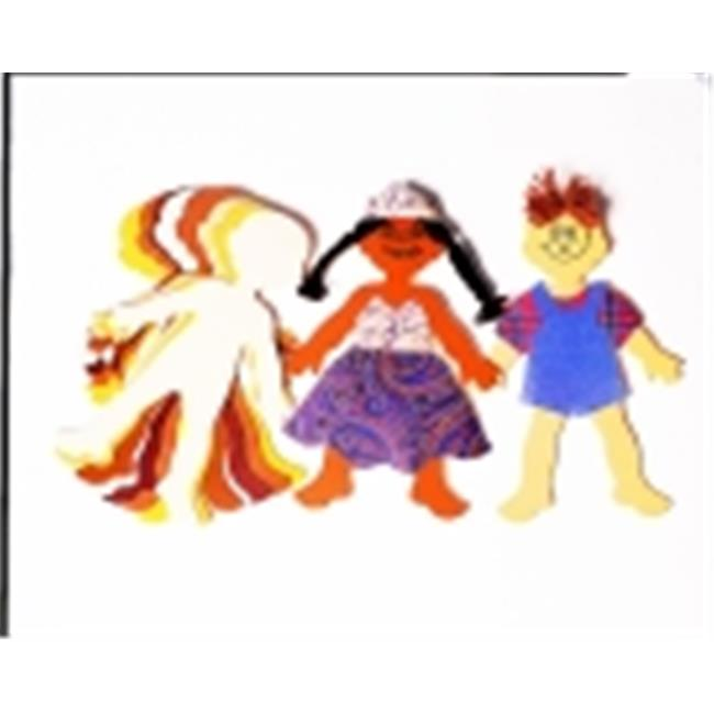 Roylco Fabric Design Paper Character Card - 9 x 6 in. - Pack 24