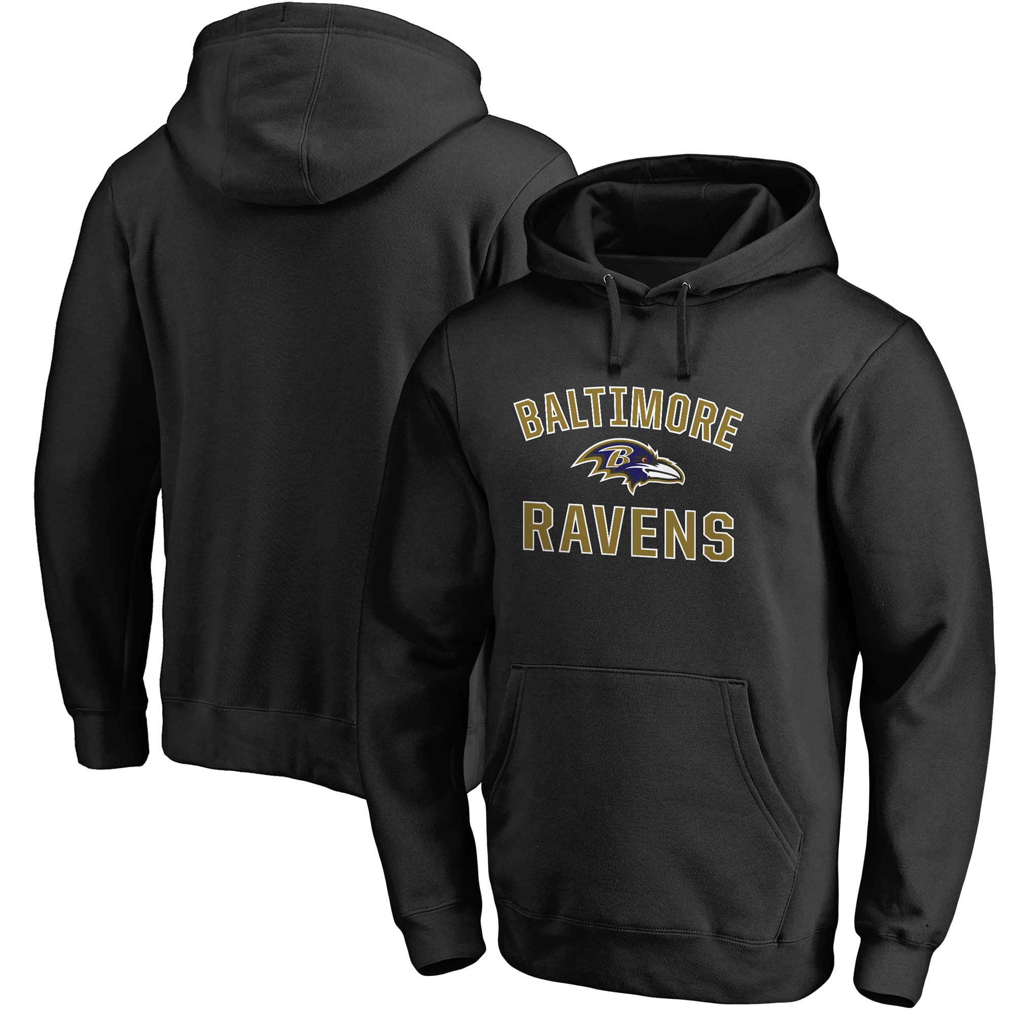 Baltimore Ravens NFL Pro Line Victory Arch Pullover Hoodie - Black