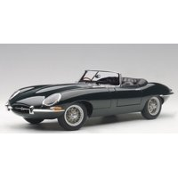 Jaguar E Type Series 1 3.8 Green with Metal Wire-Spoke Wheels 1/18 Diecast Model Car by Autoart