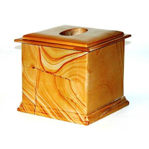 Nature Home Decor Series 300 in Teakwood Marble Tissue Holder