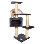 Trixie Pet Products 43-in Cat Tree & Condo Scratching Post Tower, Gray