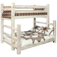Homestead Collection Twin over Full Bunk Bed, Clear Lacquer Finish