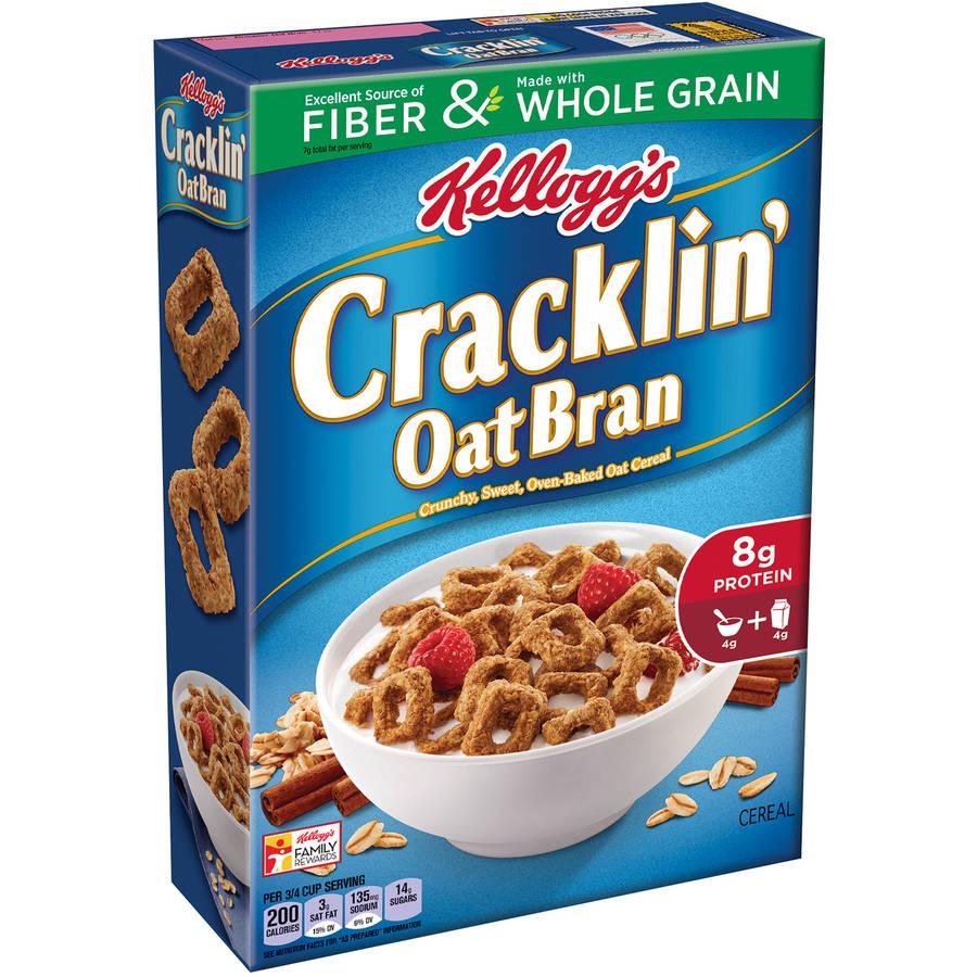 Kellogg's Cracklin Oat Bran Cereal, 17 Oz