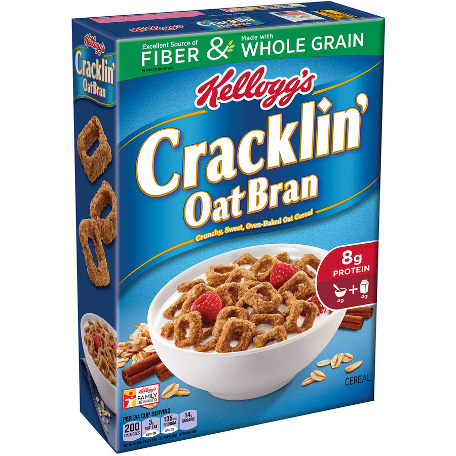 Kellogg's Cracklin  Oat Bran Cereal, 17  ounce box