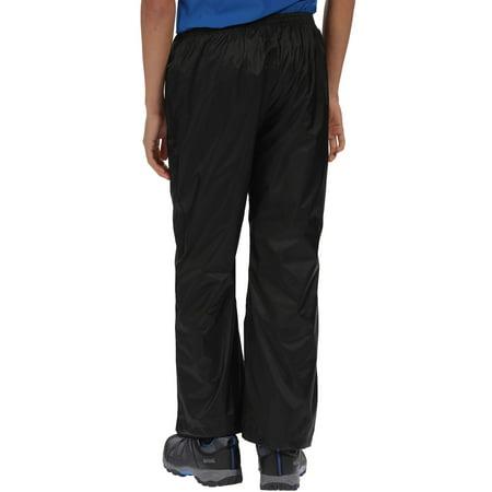 Black Regatta Pack It Kids Waterproof Trousers