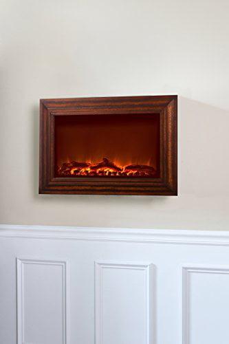 Fire Sense Wood Wall Mounted Electric Fireplace - Walmart.com