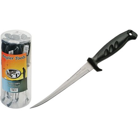 Handle 12 Piece - CN107718 Black Handle Fillet Fishing Knife Comes In Plastic Container 12 Piece