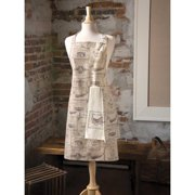Downton Abbey by Heritage Lace Wine Labels 28 x 34 in. Apron
