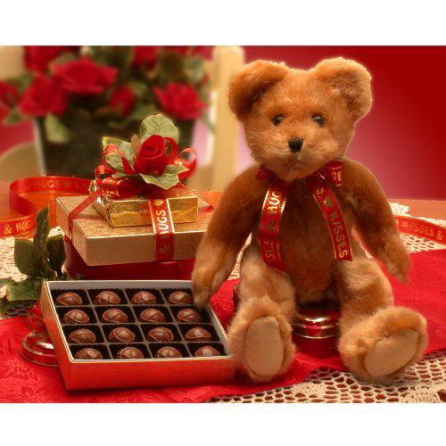 Valentine Teddy Bear Gift Set
