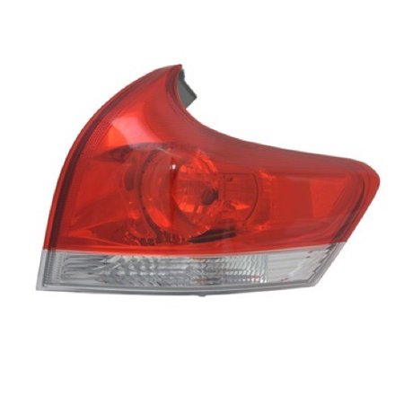 Go-Parts OE Replacement for 2009 - 2012 Toyota Venza Rear Tail Light Lamp Assembly / Lens / Cover - Right (Passenger) Side Outer 81550-0T010 TO2805109 Replacement For Toyota Venza Right Side Tail Light Lens