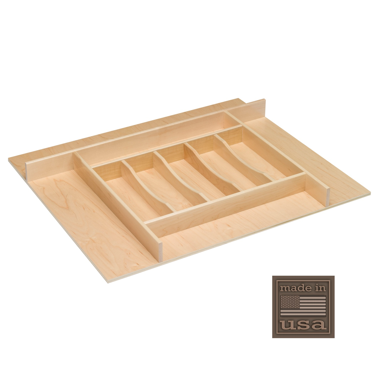 "Century Components TTKF26PF Wood Silverware Tray Drawer Organizer, 26-3 4"" x 22"" Trimmable by"