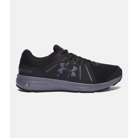 Under Armour  Men's 'Dash Rn 2' Black Synthetic Leather Running Shoe (Supinator Running Shoes)