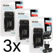 Three LP-E17 Replacement Battery Charger for Canon EOS M5 77D 200D T7i T6i DSLRs