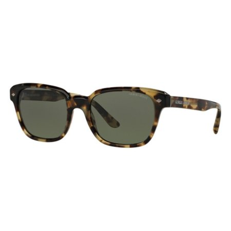New Giorgio Armani 8067 Mens/Womens Designer Full-Rim Polarized Cream Tortoise Exclusive Shades Sunnies Imported From Italy Frame Polarized Green Lenses 53-19-140 Sunglasses/Sun (Giorgio Armani Frames Of Life Glasses)