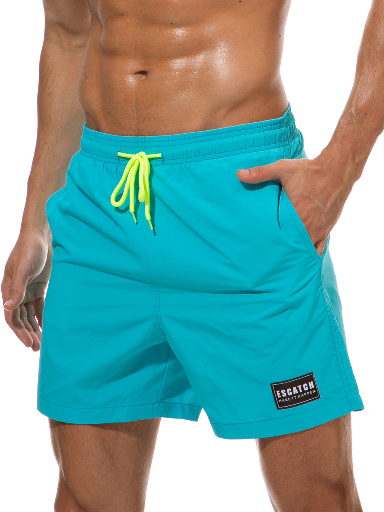 Mens Color Paint Summer Holiday Quick-Drying Swim Trunks Beach Shorts Board Shorts