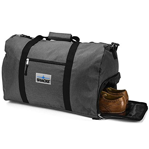 Shacke's Travel Duffel Express Weekender Bag Carry On Luggage with Shoe Pouch by