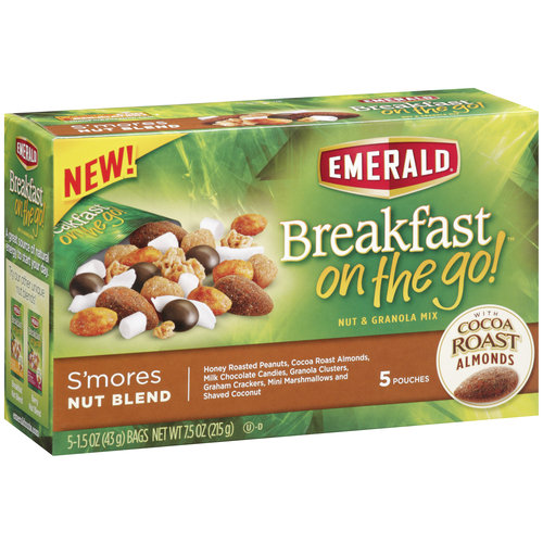 Emerald Breakfast on the Go! S'mores Nut Blend Nut & Granola Mix, 5-Pk