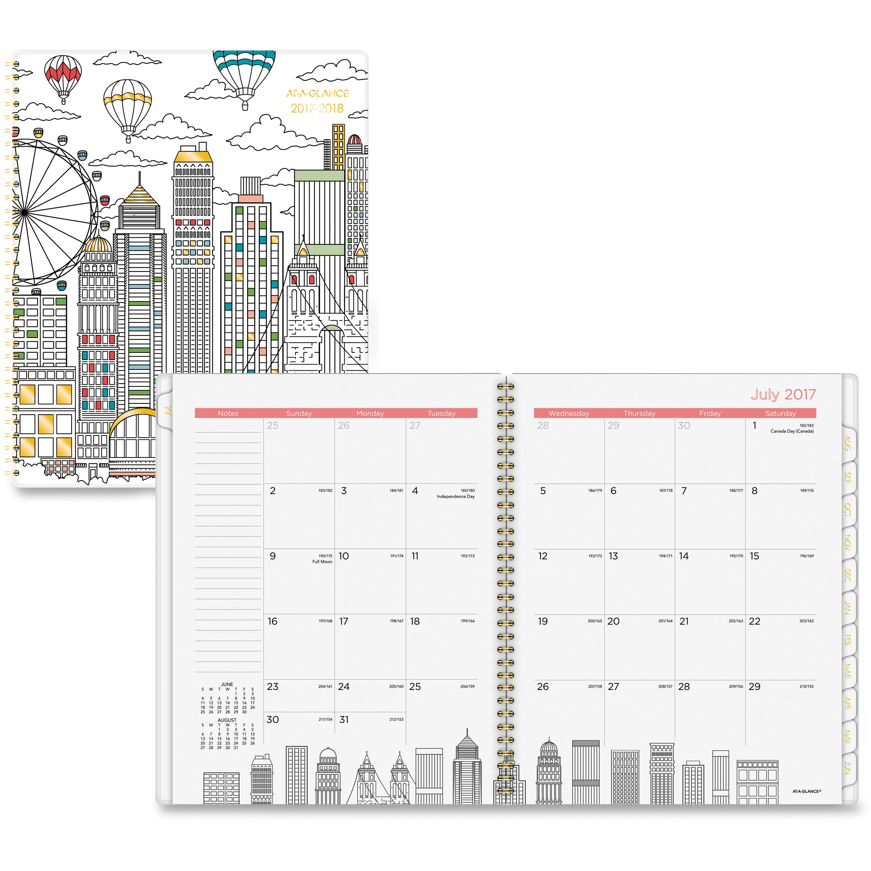 At-A-Glance Cityscape Professional Monthly Planner