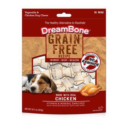 DreamBone Grain Free Chicken Chews, 18-Count, 10.7-Ounces