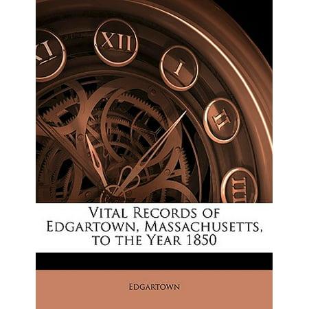 Edgartown Harbor - Vital Records of Edgartown, Massachusetts, to the Year 1850