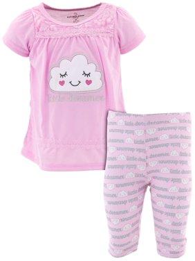 Duck Duck Goose Little Girls' Little Dreamer Pink Pajamas