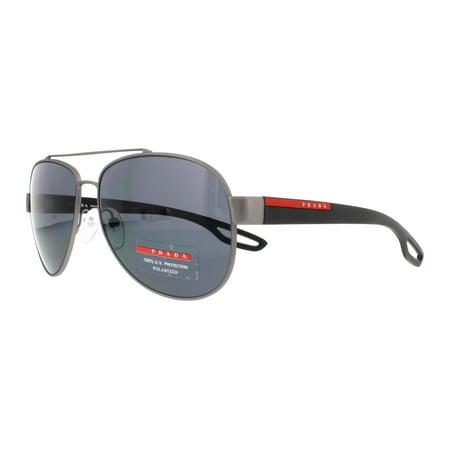 82e521aecf2be PRADA SPORT - PRADA SPORT Sunglasses PS55QS DG15Z1 Gunmetal Rubber 59MM -  Walmart.com