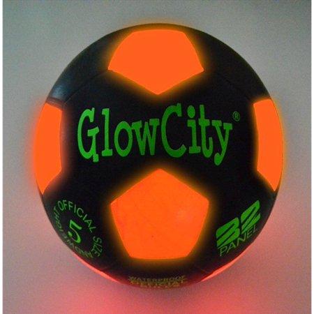 GlowCity Light Up LED Soccer Ball Black Limited Edition