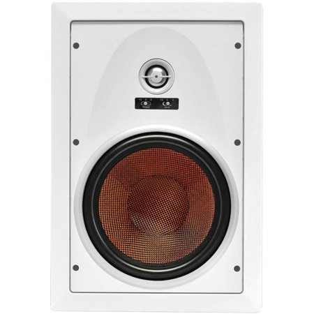 osd audio iw850 8-inch kevlar 175-watt home theatre in-wall speaker pair with bass and treble swtich