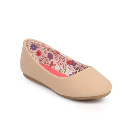 Little Angel DC42 Nubuck Round Toe Classic Slip On Ballerina Flat (Toddler/ Little Girl/ Big Girl)](Flats For Little Girls)