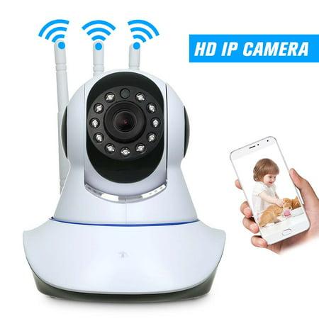 HD 720P 1.0 Megapixels IP Cloud Camera 11pcs IR Lamps CCTV Surveillance Security Network PTZ Camera Support Cloud Storage P2P for Android/iOS APP IR-CUT Filter Infrared Night View Motion Detection,Bab (Megapixel Ptz Camera)