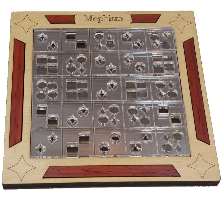 Mephisto Shapes Matching Wooden Puzzle Brain Teaser by Siebenstein Spiele