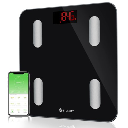 Etekcity Smart Bluetooth Body Fat Scale - Digital Bathroom Weight Scale with APP to Monitor 13 Body Composition Include Body Fat, BMI, BMR, Muscle, Bone, Protein and More, FDA