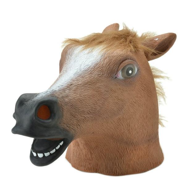 Horse Head Mask Halloween Party Latex Animal Costume Prop Gangnam Style Costume