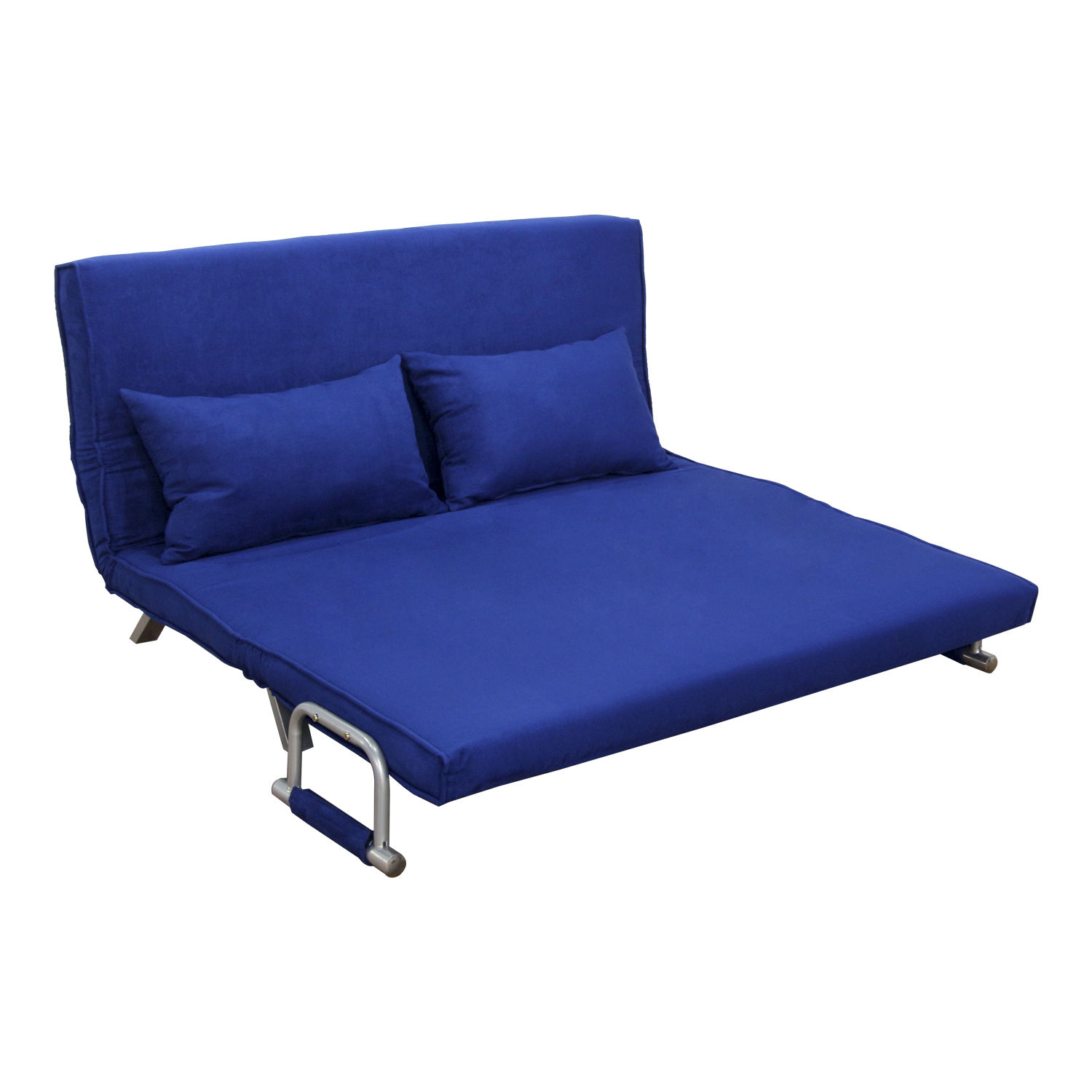 hom  61   folding futon sleeper couch sofa bed   blue   walmart    rh   walmart