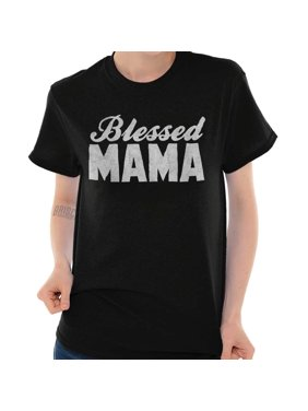 722cc0cb71 Product Image Brisco Brands Blessed Mama Mothers Day Jesus Lady Short  Sleeve T Shirt