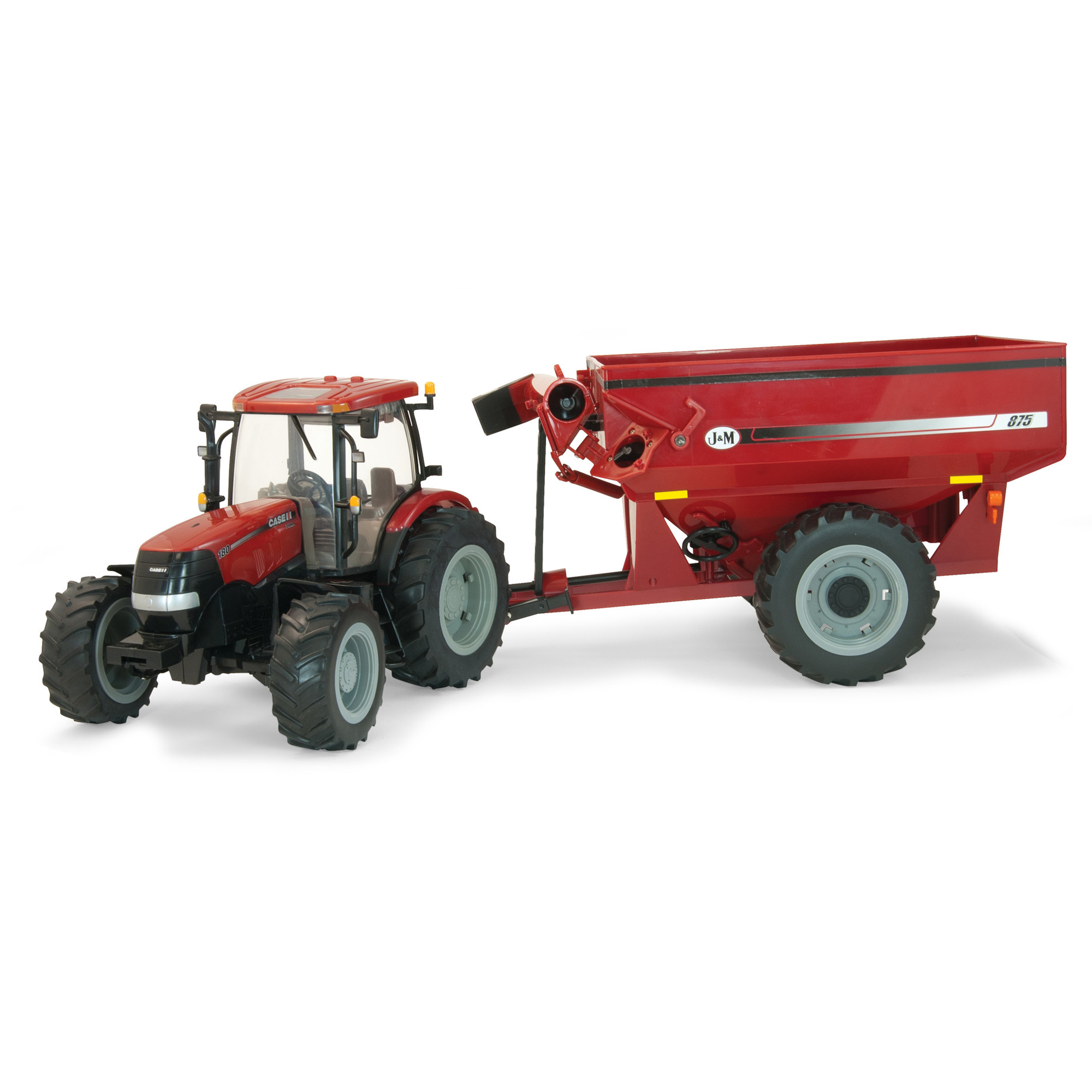 Big Farm 1:16 Case 180 with J and M Grain Cart by TOMY