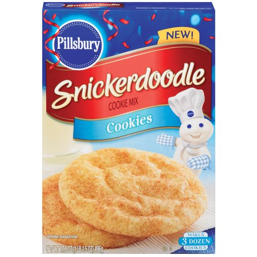 Pillsbury Cookie Mix, Snickerdoodle, 17.5 Oz