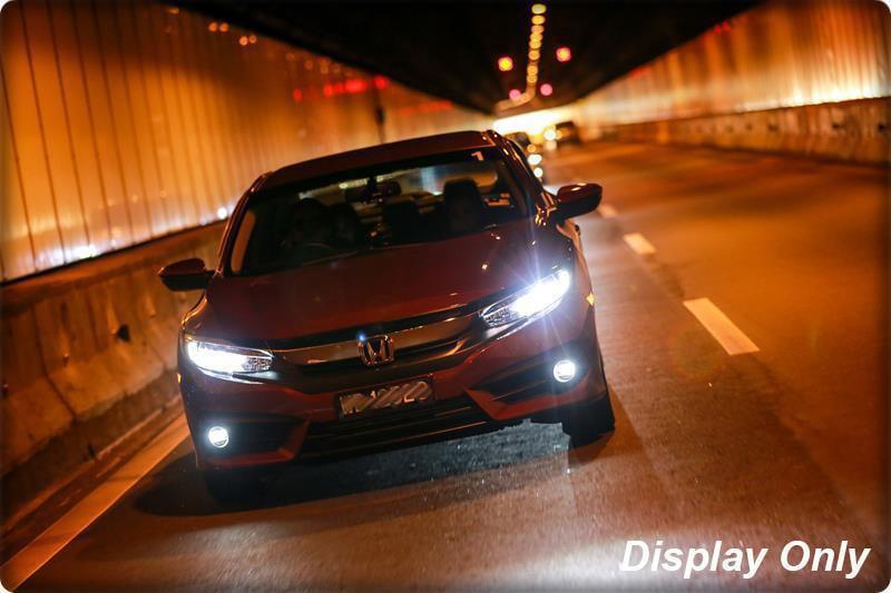 Direct Fit LED Halo Angel Eyes Projector Fog Lights Kit For Honda Civic 2016-up
