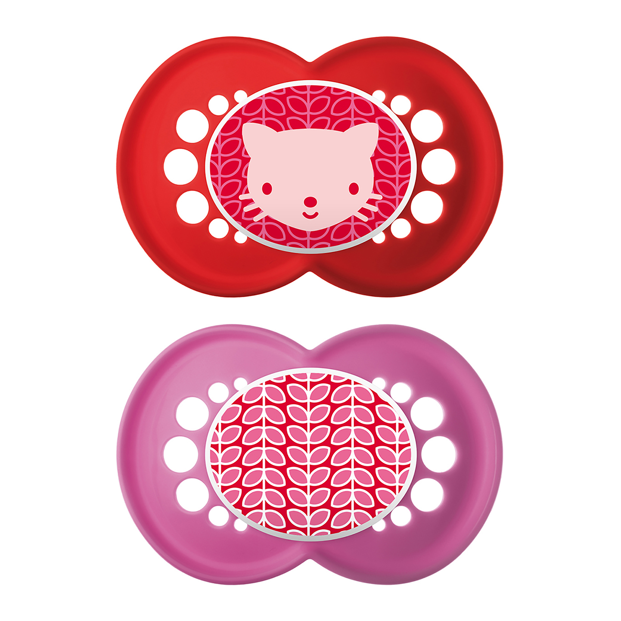 MAM Trends Orthodontic Pacifier, 6+ Months, 2-Count, Girl