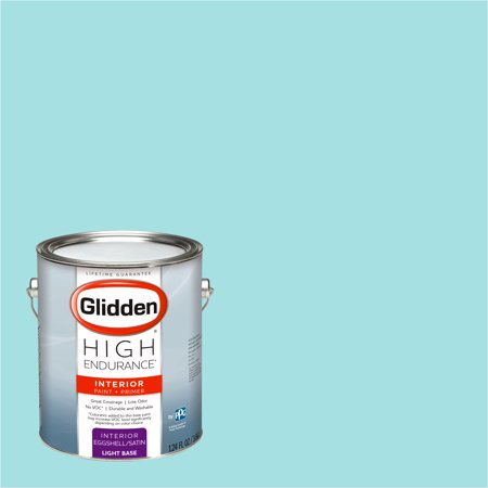 Glidden High Endurance, Interior Paint and Primer, Sea Breeze Teal, #90GG - Teal Paint